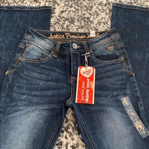 Justice jeans skinny boot